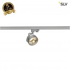 SLV 152614 KALU TRACK QPAR111 lamp head,silver-grey, incl. 3-circuitadapter