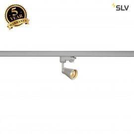 SLV AVO Spot incl. 3-circuit adapter , silver, 1x GU10, max. 50W 152644