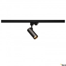 SLV HELIA 50 LED Spot for 3 circuit High-voltage Track System, 3000K, black, 35°, incl. 3 circuit adapter 152960