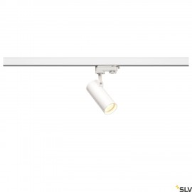 SLV HELIA 50 LED Spot for 3 circuit High-voltage Track System, 3000K, white, 35°, incl. 3 circuit adapter 152961