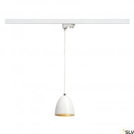 SLV PARA CONE 14 pendant, round, white/gold, GU10, max. 35W, incl. 3-circuit adapter 153141