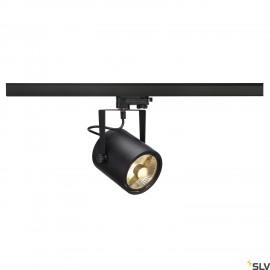 SLV 153420 EURO SPOT ES111, round, black,GU10, max. 75W, incl. 3-circuit adapter