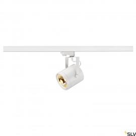 SLV EURO SPOT ES111, round, white, GU10, max. 75W, incl. 3- circuit adapter 153421