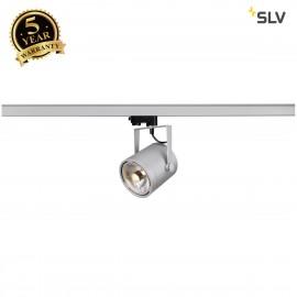 SLV EURO SPOT ES111, round, silver-grey, GU10, max. 75W, incl. 3-circuit adapter 153424