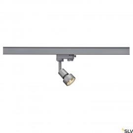 SLV 153564 PURI lamp head, silver-grey,GU10, max. 50W, incl. 3-circuit adapter