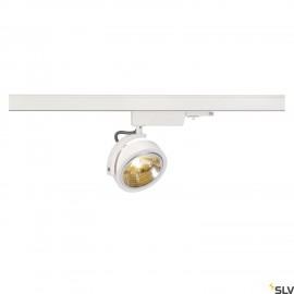 SLV KALU TRACK QRB111, white, max. 50W, incl. 3-circuit adapter 153581