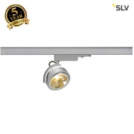 SLV KALU TRACK QRB111, silver-grey , max. 50W, incl. 3-circuit adapter 153584