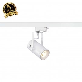SLV 153801 EURO SPOT LED, small, 9W COBLED, white, 36°, 3000K, incl.3-circuit adapter
