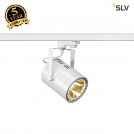 SLV EURO SPOT LED, 20W COB LED, white, 36°, 3000K, incl. 3-circuit adapter 153811