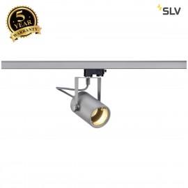 SLV EURO SPOT GU10, silver-grey, max. 25W, incl. 3-circuit adapter 153854