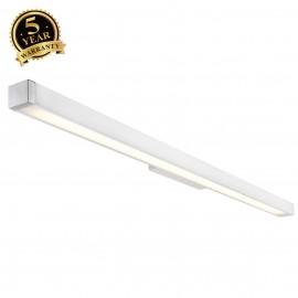 SLV 155001 Q-LINE WALL, wall light,white/chrome, T5 Energy Saver,35W
