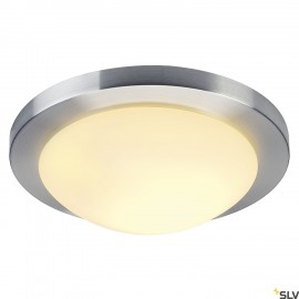 SLV 155236 MELAN ceiling light, round,alu brushed, frosted glass,E27, max. 60W