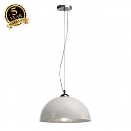SLV 155501 FORCHINI pendant, PD-2, round,white/silver, E27, max. 40W