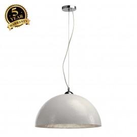 SLV 155521 FORCHINI pendant, PD-1, round,white/silver, E27, max. 40W