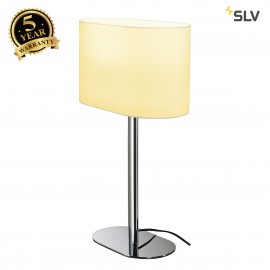 SLV 155841 SOPRANA OVAL table lamp, TL-1,white textile, E27, max. 60W