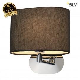 SLV 155860 SOPRANA OVAL wall light, WL-1,black textile, E27, max. 60W