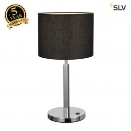 SLV 156040 TENORA table lamp, TL-1, black, E27, max. 60W