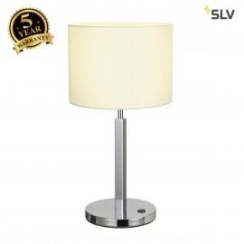 SLV 156041 TENORA table lamp, TL-1, white, E27, max. 60W