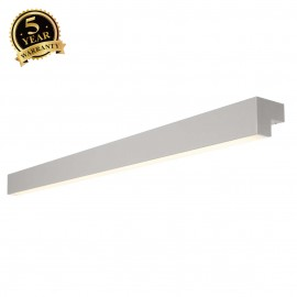 INTALITE 157444 L-LINE 120 LED, wall andceiling light, IP44, 3000K,3000lm, silver