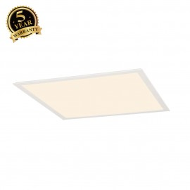 INTALITE 158602 LED PANEL recessed ceilinglight, white, 230V, 2700K,595x595mm