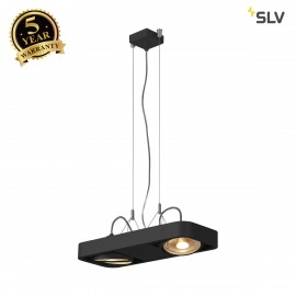 SLV 159210 AIXLIGHT R2 DUO LED GU10,QPAR111, pendant, semicircular, black