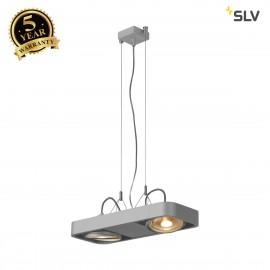 SLV 159214 AIXLIGHT R2 DUO LED GU10,QPAR111, pendant, semicircular, silver-grey