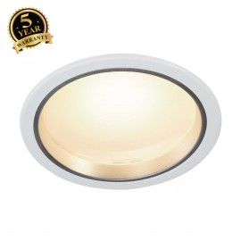 SLV 160441 LED downlight 30/3, round,white, 15W, SMD LED, 3000K