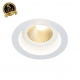SLV 160631 BOOST IP44 9W downlight, round, white, 9W LED, 3000K