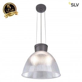 SLV 165100 PARA DOME 2 pendant,transparent / anthracite, E27, max. 150W