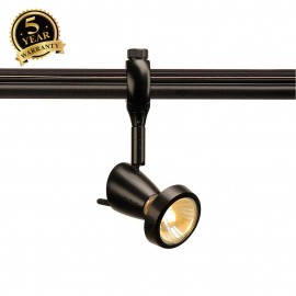 SLV 184090 SIENA lamp head for EASYTEC II, black, GU10, max 75W, incl.deco ring