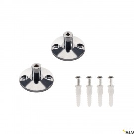 SLV Wall bracket for low-voltage wire system, chrome, 2 pieces, 3cm