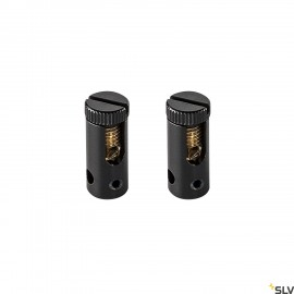 SLV 186350 FEED-IN, for TENSEO low-voltage cable system, black, 2 pieces