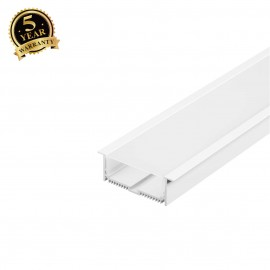 SLV 213501 GLENOS ALU RECESSED PROFILEwith cover, matt white, 1m