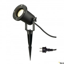 SLV 227410 NAUTILUS SPIKE XL, black, GU10Energy Saver, max. 11W, incl.1.5m cable with plug
