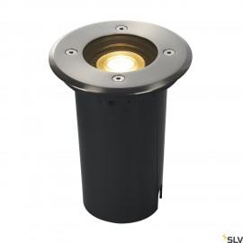 SLV 227680 SOLASTO inground fitting,round, stainless steel bezel,GU10 max. 6W