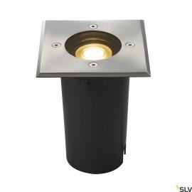 SLV 227684 SOLASTO inground fitting,square, stainless steel bezel,GU10 max. 6W