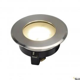 SLV 228412 DASAR FLAT 230V LED ingroundfitting, round, 4.3W LED,3000K, stainless steel bezel