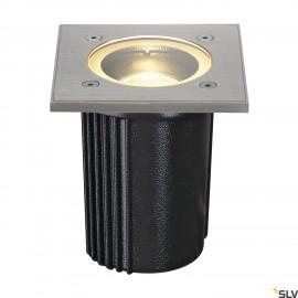 SLV 228434 DASAR EXACT GU10 ingroundfitting, square, stainlesssteel 316, max. 35W, IP67