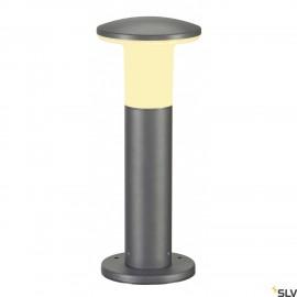 SLV 228935 ALPA MUSHROOM 40 bollard light, stone grey, E27 EnergySaver, max. 24W, IP55