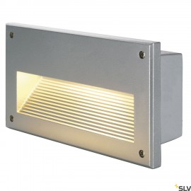 SLV 229062 BRICK DOWNUNDER E14 recessedlight, silver-grey, max 40W,IP44