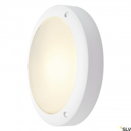 SLV 229071 BULAN wall and ceiling light,round, white, E14, max. 60W,frosted glass