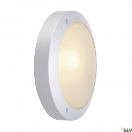 SLV 229072 BULAN wall and ceiling light,round, silver-grey, E14, max.60W, frosted glass