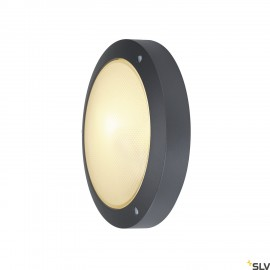 SLV 229075 BULAN wall and ceiling light,round, anthracite, E14, max.60W, frosted glass