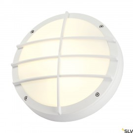 SLV 229081 BULAN GRID wall and ceilinglight, round, white, E27, max.2x 25W, PC cover