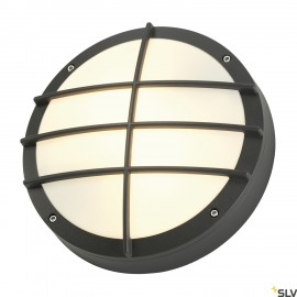 SLV 229085 BULAN GRID wall and ceilinglight, round, anthracite, E27,max. 2x 25W, PC cover