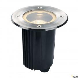 SLV DASAR 80 GU10 inground fitting, round, stainless steel 316, max. 35W, IP67 229320