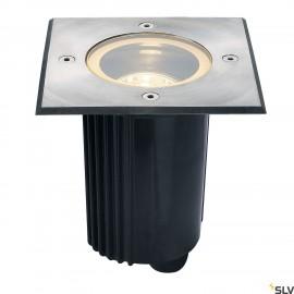 SLV 229324 DASAR 80 QPAR51 ingroundfitting, square, stainlesssteel 316, max. 35W, IP67