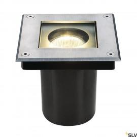 SLV 229374 DASAR SQUARE GU10 ingroundfitting, stainless steel 304,max. 35W, IP67