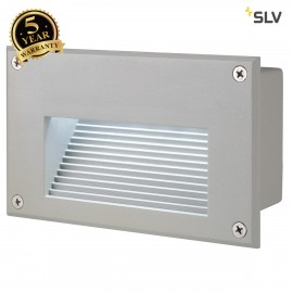 SLV 229701 BRICK LED DOWNUNDER recessedwall light, rectangular,silver-grey, 6500K LED