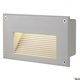 SLV 229702 BRICK LED DOWNUNDER recessedwall light, rectangular,silver-grey, 3000K LED